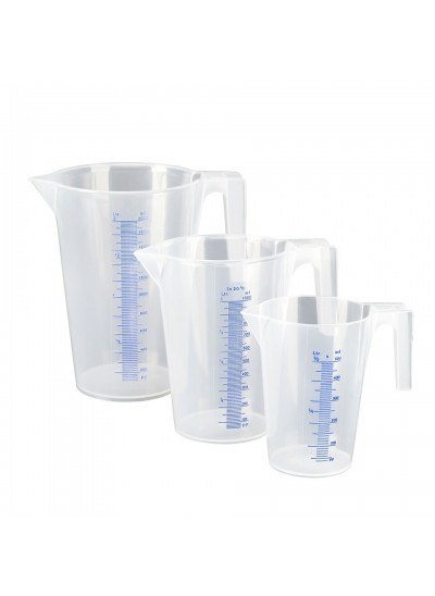SET Messbecher 3-teilig: 0,5l - 1,0l - 2,0l